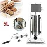 XiuPan 5L Manual Churrera Churros Maker Stainless Steel Churros Machine for Home/Commercial Use with...