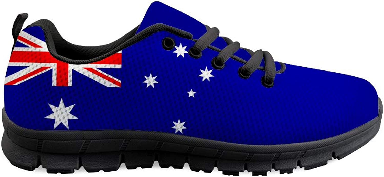 Owaheson Lace-up Sneaker Training shoes Mens Womens Australia Flag
