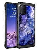 BENTOBEN Galaxy A51 5G Case [NOT FIT 4G or 5G UW Version], Slim Glow in The Dark Shockproof Protective 2 in 1 Hybrid Hard PC Soft TPU Bumper Nebula Space Design Case for Samsung Galaxy A51 5G, Blue
