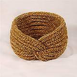 nobrand 2 Stück Wolle-Haar-Band Weiblicher Kopfschmuck, Strick Broad schneidiges Haarband Postpartale Turban Haarb
