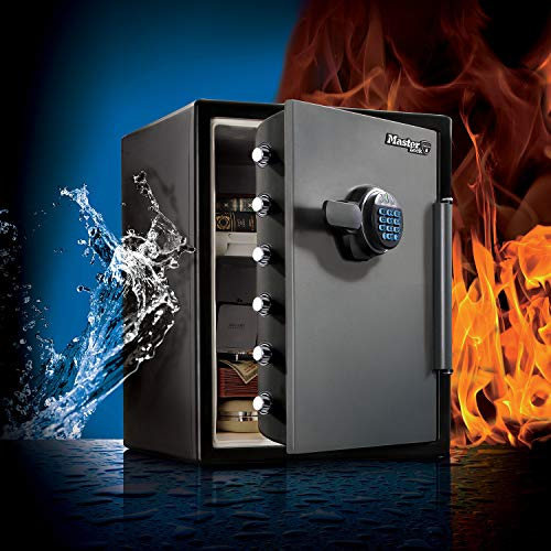 MASTER LOCK Tresor [Feuer- und Wasserfest] [56,5L] [elektronische Kombination] – LFW205FYC – Für Ausweise, A4-Dokumente, Laptop