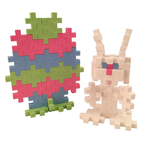 PLUS PLUS – Mini Maker Tube – Easter Bunny – 70 Piece, Construction Building STEM | STEAM Toy, Interlocking Mini Puzzle Blocks for Kids