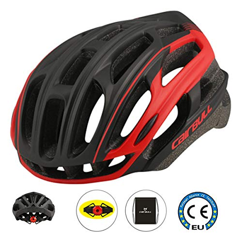Cairbull Fahrradhelm MTB Helm 55-61 cm Mountainbike Helm (Black and Red)