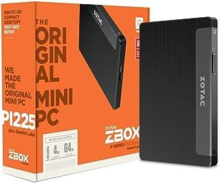 ZOTAC ZBOX Pシリーズ PI225-GK ミニPC 小型PC デスクトップPC Windows 10 Pro搭載 ファンレス 静音 WiFi対応 Bluetooth 5.0 HDMI USB 3.0 /Celeron N4000/4G...