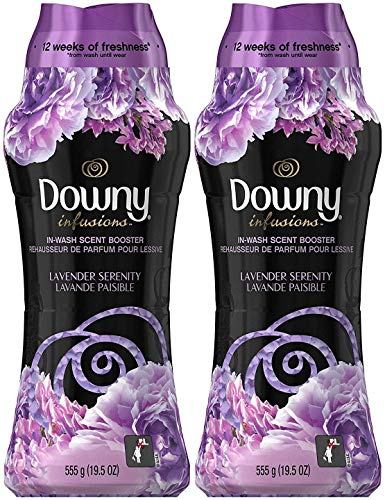 Downy Infusions in-Wash Scent Booster Beads, Lavender Serenity, 19.5 Ounce (Pack of 2)