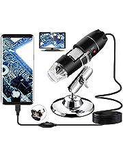 USB digitale microscoop, Bysameyee handheld 40X-1000X vergroting endoscoop, 8 LED mini videocamera voor Windows 7/8/10 Mac Linux Android (met OTG)