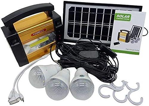 WEIWEITOE-FR Générateur de Puissance de Stockage de Panneau Solaire de Taille Portable à la Maison, Groupe de Camping extérieur avec générateur, pour Ampoules à LED, Noir,