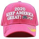 The Hat Depot Exclusive 45th President Trump Make America Great Again 3D Cap (2020Trump-Hot Pink)