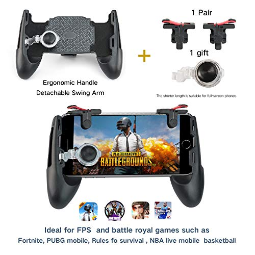 DEBEN Mobile Game Controller,Game Pad Sensitive Shoot and Aim Keys Joysticks Game Controller for iOS and Android