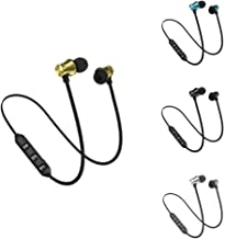 Rednix Magnet Earphone Bluetooth Headset With Mic Bluetooth Headset Calling Music Function Fast Pairing Stereo Extra Bass Sound For All Smartphones Color May Vary