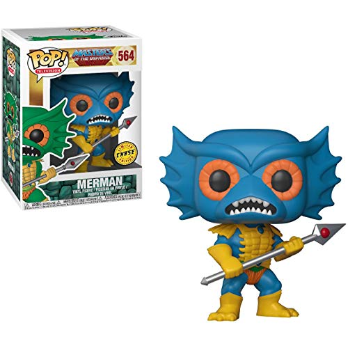 Funko Merman (Chase Edition): Masters of The Universe x POP! TV Vinyl Figure & 1 PET Plastic Graphical Protector Bundle [#564 / 21808 - B]