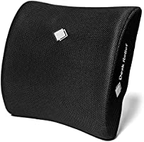 Desk Relief Lumbar Support Cushion - Memory Foam Back Support to Relieve & Prevent Lower Back, Sciatica, Disc Pain - For...
