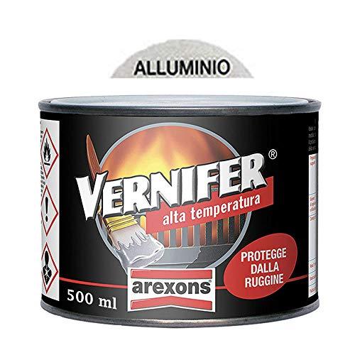 VERNIFER 4767- SMALTO 500 ML GEL ALTA TEMPERATURA ALLUMINIO - ANTIRUGGINE AREXONS