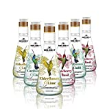 Naturally Flavored Sparkling Water by Kolibri - for Non Alcoholic Drinks and Cocktail Mixers with Low Glycemic Agave Syrup - Botanical Bubbly, Fizzy Natural Spring Tonic Water for Mocktails (6 Pack)
