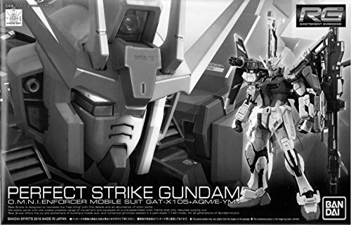 BANDAI P Real Grade RG 1/144 Mobile Suit Gundam GAT-X105+AQM/E-YM1 Perfect Strike Gundam