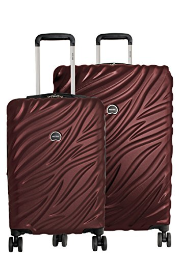 Delsey Paris Alexis Lightweight Luggage 2 pc Set, Expandable Spinner Double Wheel Hardshell Suitcases with TSA Lock
