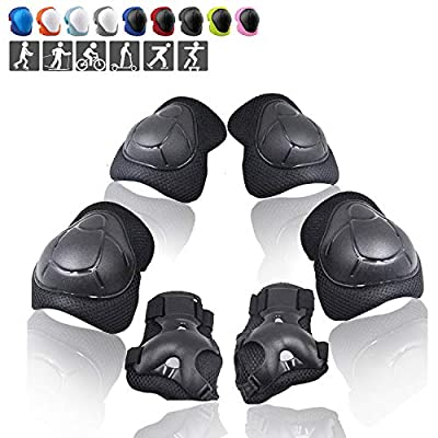 Wemfg Kids Protective Gear Set Knee Pads for Kids 3-14 Years Toddler Knee and Elbow Pads with Wrist Guards 3 in 1 for Skating Cycling Bike Rollerblading Scooter by Wemfg