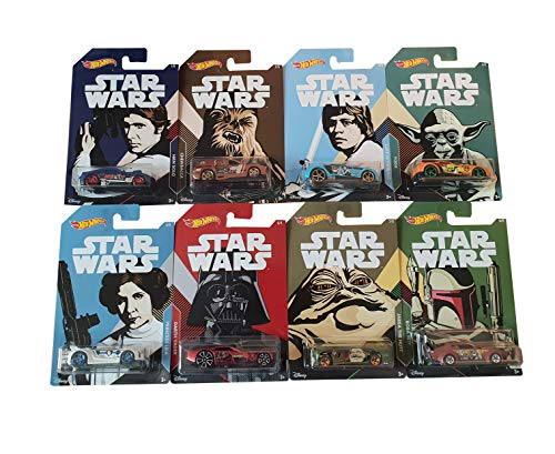 Hot-Wheels Conjunto de vehículos Mattel Star Wars de 8 FKD57