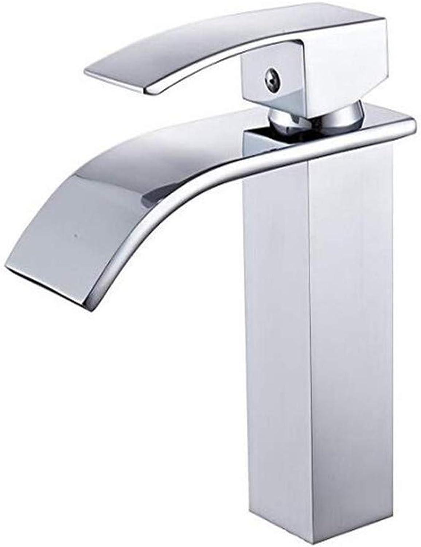 Faucets Basin Mixer Brass Waterfall Basin Mixer Tap Bathroom Sink Tap