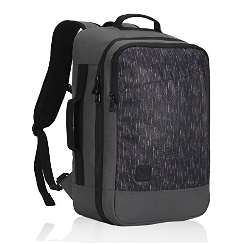 Veevan Flight Approved Carry on Backpack Business Weekend Bags Travel Rucksack 28 Liter Grey