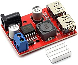 DZS Elec DC 6V-40V 9V/12V/24V/36V to 5V 3A Double USB Output LM2596 Buck Voltage Converter with Heat Sink Charger DIY USB Power Supply