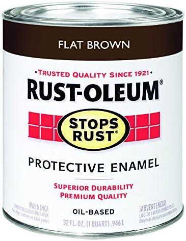 Rust-Oleum Austin Mall 5 ☆ very popular 239083 32 oz. Quart Rust Stops Brush Brown Flat
