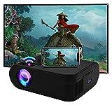 SOTEFE Mini LED Proyector Portable 6000 Lumens - WiFi Proyector Portátil Full HD 1080P Video Multimedia Para iPhone/Samsung/Sony/Hauwei Smartphone Compatible con HDMI/USB/Tarjeta SD/VGA/AV/TV Box/PS4