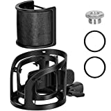 InnoGear Microphone Shock Mount with Pop Filter, Adjustable Mic Anti-Vibration Suspension Shock Mount Holder Clip with Screw Adapter for Diameter of 40-61mm Microphones