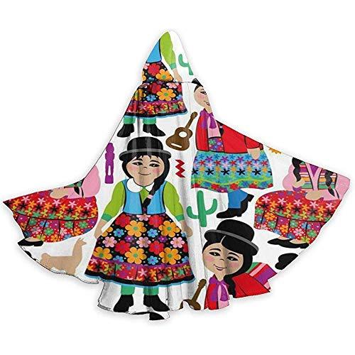 Costume da Tunica per mantello per Halloween con cavaliere di Halloween per Ragazze boliviane per adulti, 59 pollici (150,40 cm)