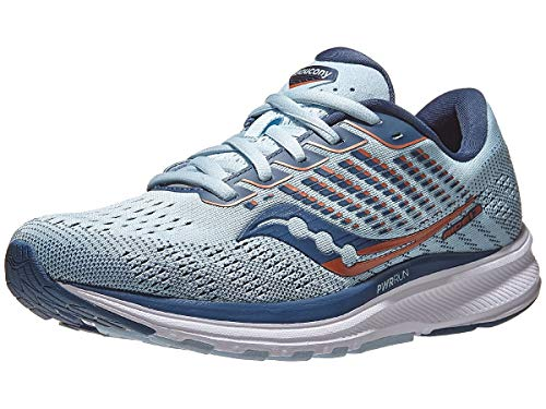 Saucony Women's Ride 13, Sky/Storm, 5.5 Medium