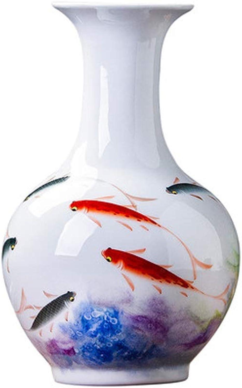 YYFRB Vase en céramique Vase Salon décoration OrneHommest décoratif Vase Porche Peint à la Main Vase (Couleur   A)