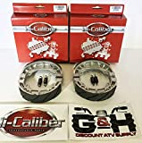 (2 SETS) WATER GROOVED FRONT BRAKE SHOES + SPRINGS For the 1985-1988 Honda TRX 125 Fourtrax
