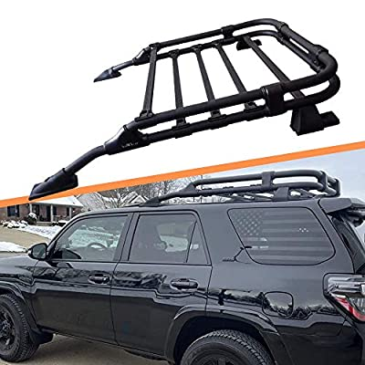 Titopena Roof Basket Rack Fit for 2010-2021 Toyota 4Runner Black Powdercoat TRD Style