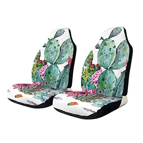 Little Yi Bouquet In Boho Cactus Sukkulente Blumen Autositzbezüge Fahrzeugsitzschutz Universal Autositz Zubehör