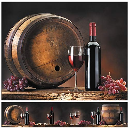 Wandverkleidung -Rotwein- Küchenrückwand - Verschiedene Designs - 60 x 300 cm - ABS Kunststoff - 1,6 mm - kein Folie - UV-Direktdruck