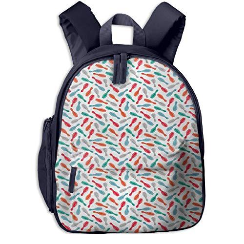 Kinderrucksack Anstecknadel Bowling Club Sports Babyrucksack Süßer Schultasche für Kinder 2-6 Jahre