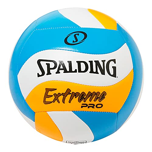 SPALDING(スポルディング) バレーボール エクストリームプロ ウェーブ ブルー×オレンジ 4号球 72-372J バレー バレーボール