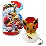Bandai – Pokémon – Lanzador Poké Ball & su Peluche Evoli – 81241