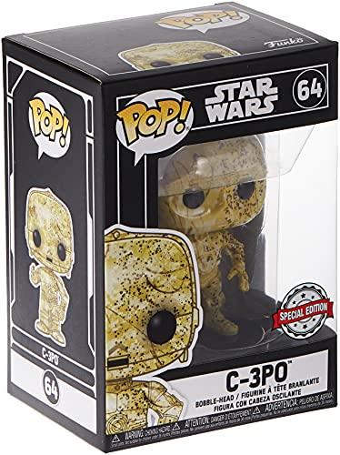 Star Wars Funko Pop Futura Skin C-3PO Bobble-Head (Exclusivo)