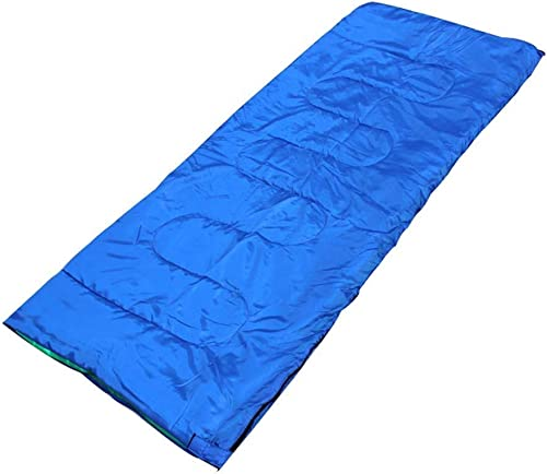 YHEGV Adulte Camping Enveloppe Sac De Couchage Lumière Chaude Imperméable à l'eau 4 Saison Couette pour Sommeil Randonnée Randonnée Alpinisme Intérieur Activités De Plein Air Bleu
