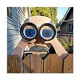 Yyoutop Lustige Zaundekoration Nosy Alter Mann und Dame lebensecht spähen Alter Mann und Dame Gartenzaun Innenhof Zaun Art Decora Crafts (Color : C)