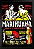 Gießerei, Marihuana Weed with Roots in Hell Poster Vintage