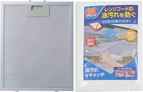 Poweka Metallfettfilter für Dunstabzugshauben 320x260mm Kompatible mit die meisten Dunstabzugshauben mit 12 Stück Filterpapier 2 St.
