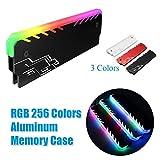 Hihey Cooler RGB DDR Mémoire Radiateur Mémoire RAM RGB Radiateur Dissipateur De Chaleur Refroidissement Gilet Fins Radiation Dispel pour DIY PC