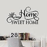 WERWN Calcomanía de Pared de Sweet Home, Dormitorio, Sala de Estar, Cita, decoración del hogar, Vinilo, Pegatina de Pared, Mural Creativo