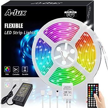 A-1ux 50-Feet RGB Color Changing LED Strip Lights Kit