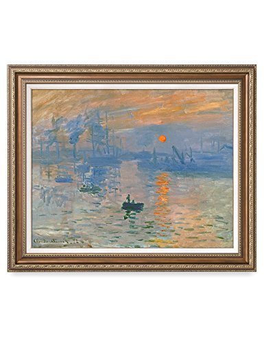 DECORARTS - Impression Sunrise, Claude Monet Classic Art. Giclee Prints Framed Art for Wall