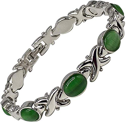 Helena Rose Ladies Magnetic Bracelet for Women - Relieve Menopause Symptoms - Best Natural Pain Relief for Migraine Arthritis Anxiety and Stress - Includes Jewellery Gift Box
