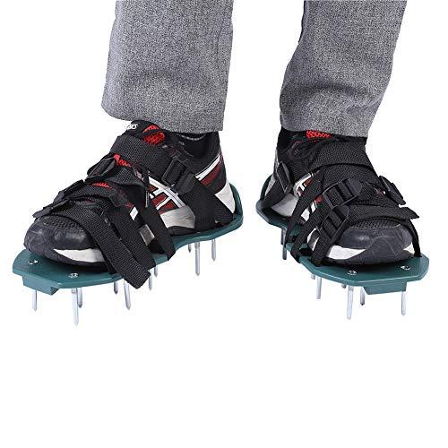 Yosoo Health Gear Escarificador cesped Manual, aireador escarificador, aireador de césped para jardín Zapatos escarificadores, 1 par de Sandalias de aireador de césped Zapatos Herramienta de jardín