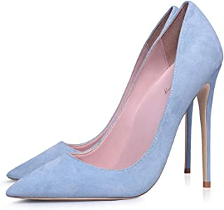 LQHYA Pumps Women Shoes Flock Slip On Shallow Wedding Party Pointed Toe High Heels Pump Chaussures Femme Stiletto Pump